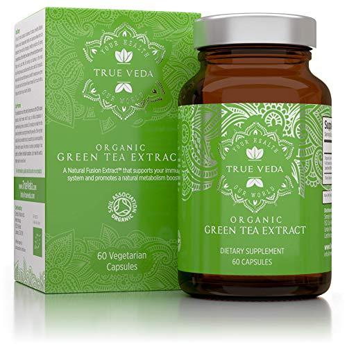 Estratto di Tè Verde Bio in Capsule - Biologico Certificato EU | Fonte Naturale di Caffeina | Stimola il Metabolismo e Aumenta i Livelli di Energia con EGCG | Ayurveda | Vegan | 60 Compresse