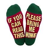 El mejor regalo Calcetines causales divertidos Calcetines navideños Si puedes leer el Regalo navideño para los amantes, amigos, mamá y padre, estos calcetines Cotton Xmas
