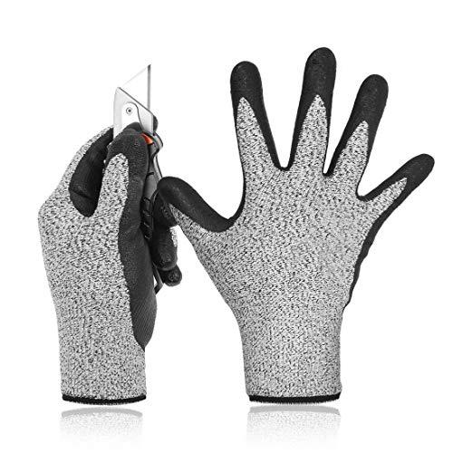 SNOWINSPRING Level 5 Guanti Resistenti Al Taglio 3D Comfort Stretch Fit, Durevole Power Grip Foam...