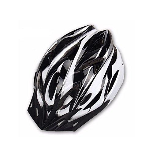 Hoovo Casco de Bicicleta con Ajustable Ligero Casco de Bicicleta de Montaña Racing breezier para Hombres y Mujeres (Blanco)