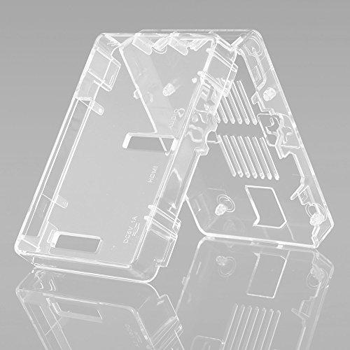 51N5ADamdrL - Aukru Nuevo 3-EN-1 Kit de Raspberry Pi 2 Modelo B/B + Transparente Caja + 5v 2000mA alimentación + 3 Conjunto del disipador de Calor