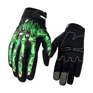 Surenhap Motorrad Handschuhe, Skeleton Zombie Knochen Design Winddicht Warme Fahrradhandschuhe Winterhandschuhe Kälteschutz für Herren Damen Motorräder Camping Outdoor 1