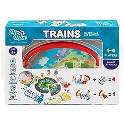 Picnmix Trenes Juego de Matemáticas Juguetes Educativos para niños 4 años a 7 años Juegos Educativos