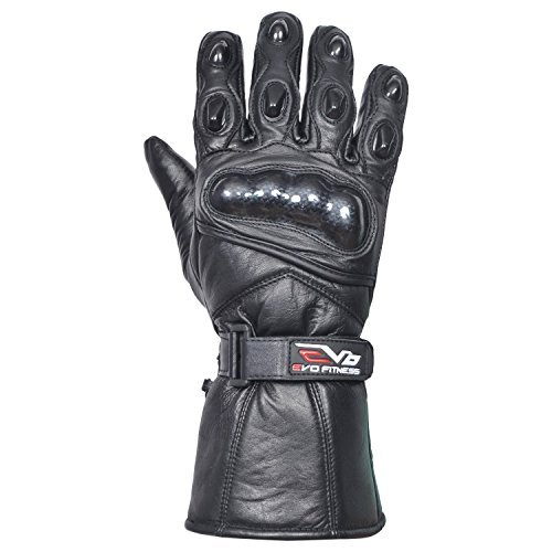 Evo Neu Ledertasche Motorrad Heavy Duty Wasserfest Winter Thermo Kohlefaser Gehäuse Handschuhe 1