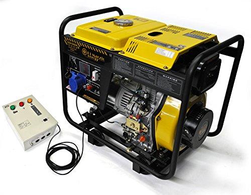 Generador eléctrico 6KW Diesel - Grupo electrógeno con ATS - Arranque eléctrico / manual