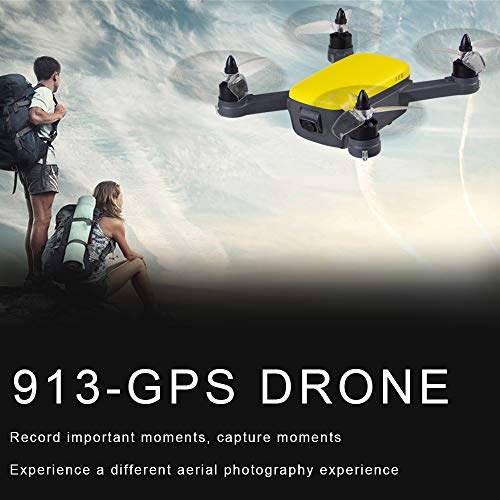 RONSHIN Droni 913 GPS 5G WiFi FPV con 1080P HD Camera Altitude Hold Mode Brushless RC Drone...