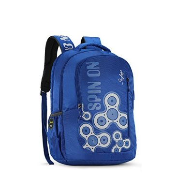Skybags New Neon Polyester 1850 cm Blue Spacious School Backpack-32 Litres 3