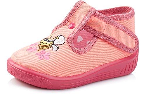 Ladeheid Pantofole Bambino e Bambina LARW003 (Albicocca/Rosa, 19)
