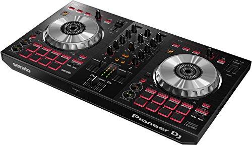Pioneer DJ - Controller DJ a 2 canali per Serato DJ Lite - Mixer - Accessorio per DJ - Pad Scratch - Due grandi Piatti in Alluminio