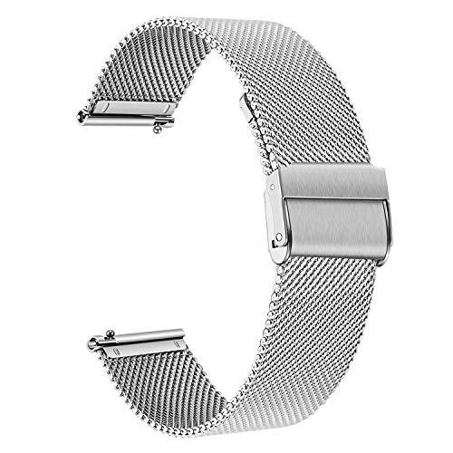 TRUMiRR Sostituzione per Samsung Galaxy Watch 46mm/Gear S3 Frontier/Gear S3 Classic Cinturino, 22mm Cinturino in Acciaio Inossidabile Bracciale con Cinturino a sgancio rapido per Huawei Watch GT
