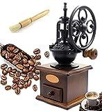 Fecihor Molinillo de Café Manual Vintage Mano Molinillo de Café Madera Estilo Máquina de Café para Café Espresso, Semilla, Especia, Pimienta