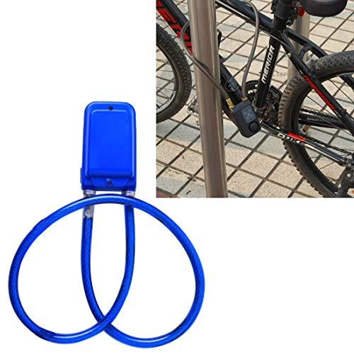 Man-Bicycle Accessories Allarme antifurto antifurto con Password per Bicicletta IP44 Impermeabile Strumento per l'assemblaggio di Parti di biciclett (Colore : Blu)
