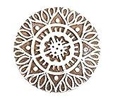 INDEE-PRINT Bloque De Impresión De Madera Tallada Mano Mandala Diseño De Estampado Textil Tejido De Henna Caja De Bricolaje Pequeñas Joyas