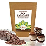 Raw organic cacao nibs, pure vegan dark chocolate ingredient, unsweetened, natural and versatile, premium quality superfood, ideal for power smoothies, protein bars & cookies - 200g
