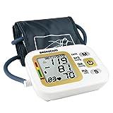 BROADCARE Misuratore di Pressione da Braccio Ricaricabile Sfigmomanometro con USB Misuratione Totalmente Automatica per 2 Utenti (memorie 2*99)