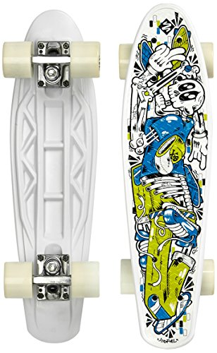 Street Surfing Skateboard FUEL board-Skelectron, Nero, 55 cm, 500290