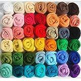 Ovillos de lana de fieltro para aguja de fieltro, 36 colores, para fieltrado con aguja y para tejer a mano, de ROSENICE