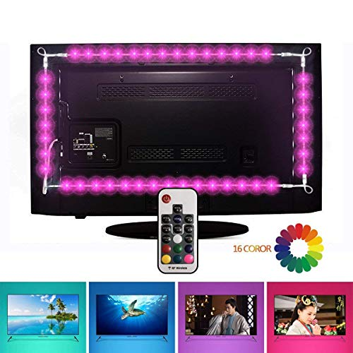 TV LED illuminazione, EveShine Striscia LED TV 78.7in/2 m/4 Nastri a Multicolore RGB...