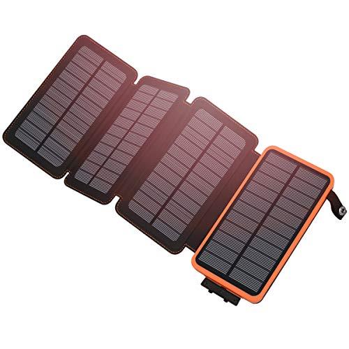 Hiluckey Chargeur Solaire 25000mAh Portable Power Bank avec Deux 2.1A Ports Imperméable Power Bank avec Lampe LED Batterie Externe pour iPho... 22