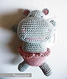 Gina, ippopotamo amigurumi. handmade uncinetto. idea regalo per bambini o da collezionare. ippopotamo animali per bambini. pupazzo uncinetto