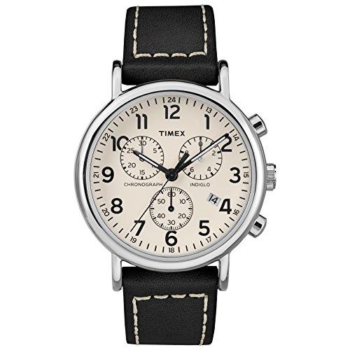 Timex Orologio Cronografo Quarzo Uomo con Cinturino in Pelle TW2R42800