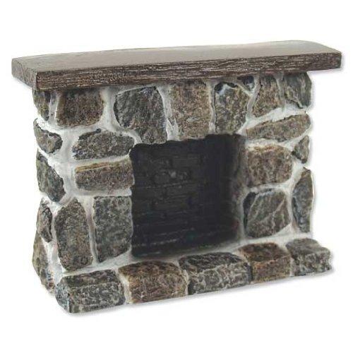 Aztec Imports, Inc. Dollhouse Miniature Fieldstone Fireplace (Grey and Tan)