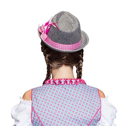 Bayernhut Moni Trachtenhut Oktoberfest Dirndl Hut Wiesn (Pink) - 4