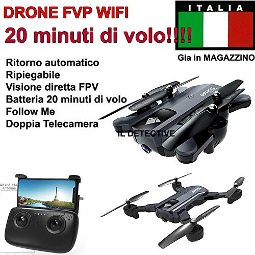 drone QUADRICOTTERO RADICOMANDATO WiFi FVP 4CH X2 2,4Ghz Camera HD Video Foto USB LED