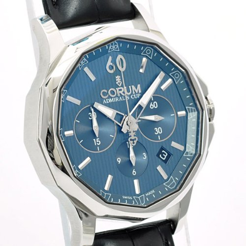 Corum Admiral's Cup Legend 42 Automatic Chronograph Steel Mens Watch Calendar 984.101.20/0F01 AB10 - 2