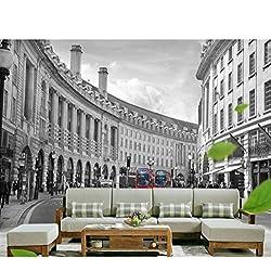Papier peint de peintures murales de salon de 3 D, papier peint anglais de photos de bâtiment de style anglais pour le tissu en soie des murs 3D (W)500x(H)280cm