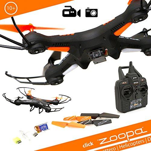 zoopa Acme Q Cruiser 420Drone quadricottero con videocamera HD, risoluzione 720p, Sistema Gyro a 6...