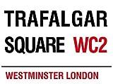 empireposter Londra-Trafalgar Square-Targhe in Metallo Nostalgia-Dimensioni 20x 15cm