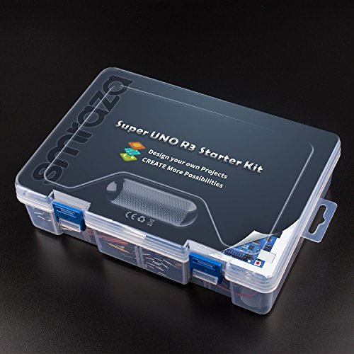 51NdFiC76hL - Smraza Conjunto Medio a UNO para Arduino con Tutorial y Conjunto de UNO R3,Relé de 5V,Modulo de Fuente de Alimentación,Servomotor, LCD1602 para Arduino Mega 2560 Nano UNO R3