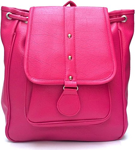 Levent casual purse fashion school pu leather backpack shoulder bag Mini backpack for Women's&Girls (Pink)