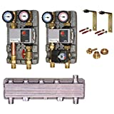 Verteiler hydraulische Weiche Pumpengruppen Wilo Set Stellmotor Thermostat Warmwasser FH