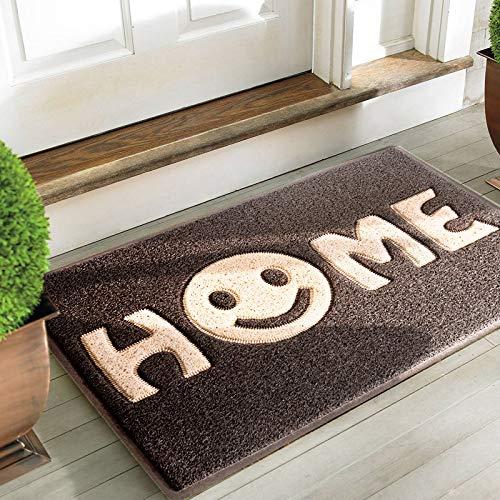 """Mrs Sleep zerbino di benvenuto con stampa della scritta """"Home"""" con smile, tappeto per ingresso..."""