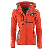 Geographical Norway – Chaqueta multifunción exterior Lluvia Softshell Sport, color Corail 007, tamaño medium