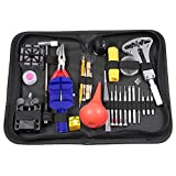 Kit di riparazione orologi, Starall Professional Watch Band Link pin Tool case Opener Repair Remover Holder Tool kit set con custodia da trasporto, nero