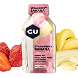 GU Energy Gel Energizante de Fresa y Plátano - Paquete de 24 x 32 gr - Total: 768 gr