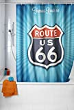 Wenko Vintage Route 66 Cortina de Ducha, Poliéster, 180x200x275 cm