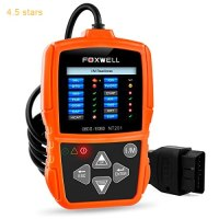 OBD2/OBD II Car Engine Diagnostics Code Reader Auto Diagnostic Scan Tool Automotive Scanners for 2000 or Later US, European and Asian OBDII Vehicle (Foxwell NT201 Orange)