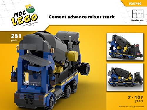 Cement advance mixer truck (Instruction Only): MOC LEGO