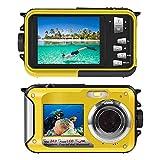 Macchina fotografica subacquea per snorkeling 24.0MP fotocamera digitale subacquea galleggiante Full HD 1080p doppio schermo impermeabile Action Camera