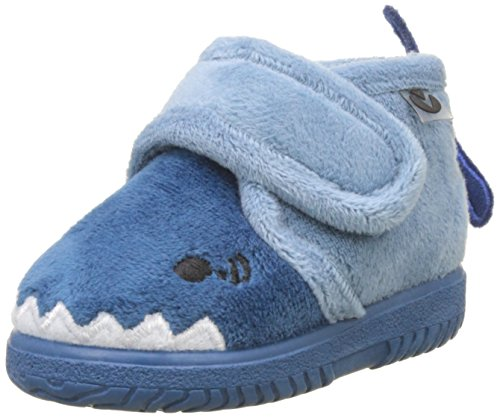 victoria Bota Velcro Animales, Stivali Arricciati Unisex-Bambini, Blu (Azul 36), 26 EU