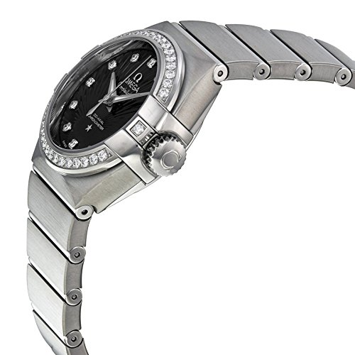 Omega Sternbild Schwarz Zifferblatt Edelstahl Stahl Damen Watch 123.15.27.20.51.001 - 2