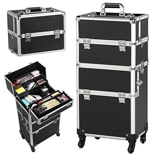Yaheetech Valigetta/Trolley Trucchi Telaio in Alluminio Beauty Case Make Up da Viaggio per Estetista...