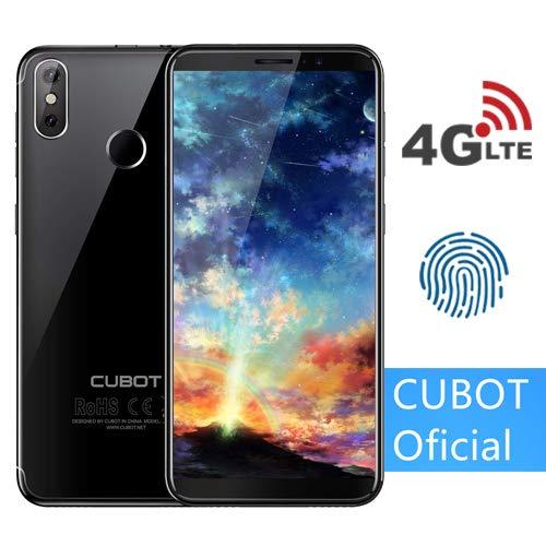 "CUBOT J3 Pro (2018) Pantalla 18:9/5.5"" 4G Android GO Reconocimiento Facial Dual Sim 1GB + 16GB, Dual Cámara Trasera 13MP +2MP/ Frontal 5MP, Procesador Quad-Core,WiFi, Bluetooth,GPS,4G/3G/2G Negro"