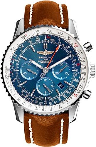 Breitling Navitimer 01Edelstahl auf braun Lederband Herren-Armbanduhr ab012721/C889–443x