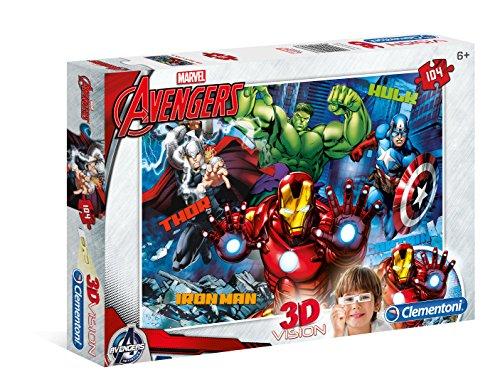 Clementoni - 20606 - 3D Puzzle - The Avengers - 104 Pezzi