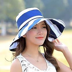 Hat, Summer Sun Hat, Outdoor Bike, Sun Hat, Uv Protection, Foldable Sun Hat,Navy Blue